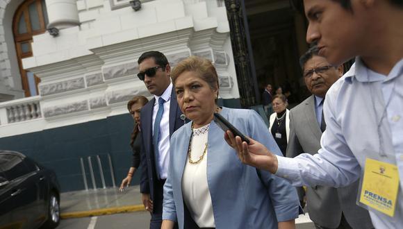 La congresista de Fuerza Popular, Luz Salgado, exhortó al Ministerio Público que confirme qué recibió de Antonio Camayo. (Foto: Archivo El Comercio)