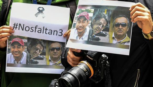 Disidentes de las FARC suspenden entrega de cuerpos de periodistas ecuatorianos asesinados a la Cruz Roja. (AFP).