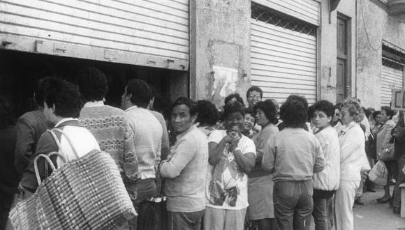 Hiperinflación en el primer gobierno de Alan García. (Foto: Archivo El Comercio)