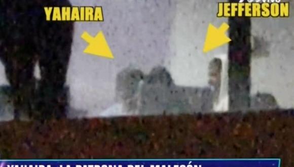 Jefferson Farfán fue captado en una fiesta íntima con la familia de la cantante Yahaira Plasencia.  (Captura de pantalla)