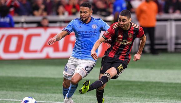 New York City, con el peruano Alexander Callens, quedó eliminado en semifinales de la MLS ante el Atlanta United. | Foto: Reuters