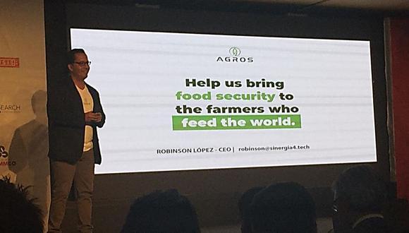Robinson López Monzón, CEO de Agros, presenta la plataforma digital. (Foto: difusión)