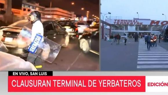 Gran cantidad de pasajeros que buscaban viajar son afectados con la medida de clausura temporal de tres terminales terrestres (Captura: TV Perú)