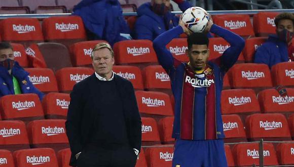 Ronald Araujo, duda en Barcelona para la Supercopa de España. (Foto: AP)