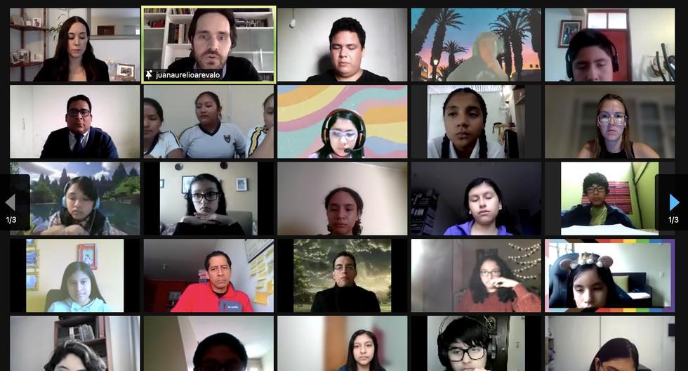 Bienvenida virtual a los nuevos corresponsales escolares de El Comercio.