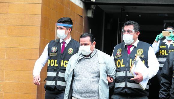 En Surco fue detenido Juan Carlos Silva Dávila, quien fuera hombre de confianza de César Villanueva y presidente del comité de licitación del Proyecto Especial Huallaga Central y Bajo Mayo (PEHCBM). (Foto: Alessandro Currarino)