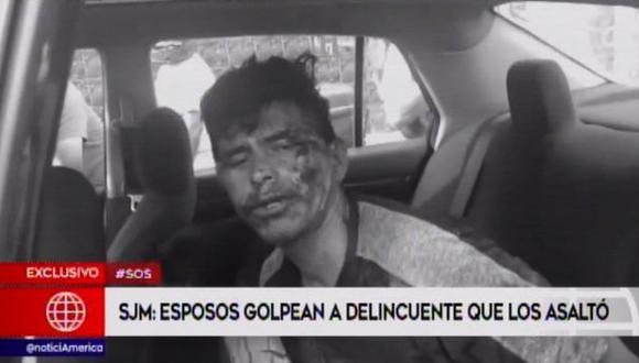 La pareja dio aviso de manera inmediata a la Policía Nacional, que mediante el Plan Cerco logró capturar a estos dos delincuentes (Foto: América Noticias)