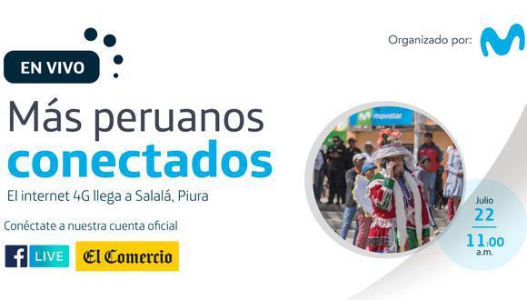 La inauguración del sistema de Internet 4G en Salalá fue transmitido por la cuenta de Facebook de El Comercio