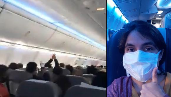 Parte del grupo que se encontraba varado en el aeropuerto de Ezeiza llegó a bordo de un avión de Aerolíneas Argentinas. Según les informaron, dos aviones Hércules se encargarían de traer a los compatriotas que continuaban en la capital argentina.