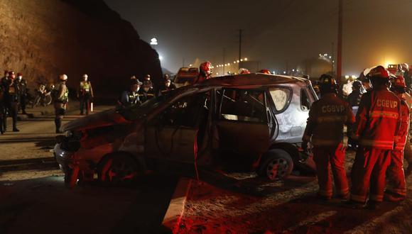 El accidente en Ventanilla es investigado por la Policía. (Foto: César Bueno @photo.gec)