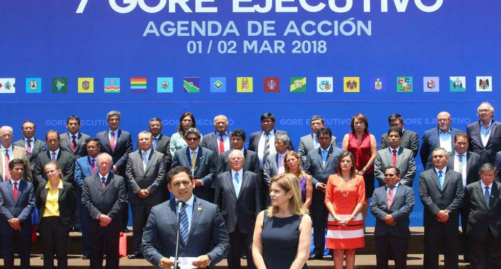 """PPK presidió el VII Gore Ejecutivo denominado """"Agenda para la acción"""". (Foto: Presidencia)"""