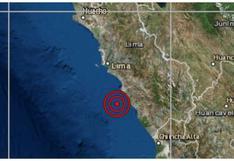 IGP reportó sismo de magnitud 4 en Cañete esta madrugada