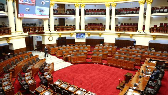 Primera sesión virtual del Congreso de la República. (Foto: Congreso)