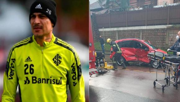 Paolo Guerrero sufrió accidente de tránsito en las calles de Brasil | Foto: Twitter.