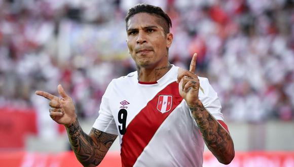 Paolo Guerrero, el '9' y capitán de la selección peruana. (Foto: AFP)