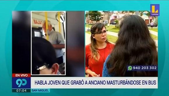 Pasajera contó los momentos de incomodidad que vivió al interior del bus de transporte público. (Foto captura: Latina)