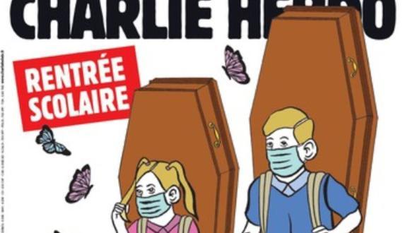 """Hace unos días, Francia admitió que sufre un """"rebrote innegable"""" de coronavirus. Pese a ello, el lunes reabrirán las escuelas y permitirán que los trabajadores retornen a sus trabajos. """"Regreso a la escuela: ¿terminarán el año?"""", se pregunta la portada de Charlie Hebdo."""