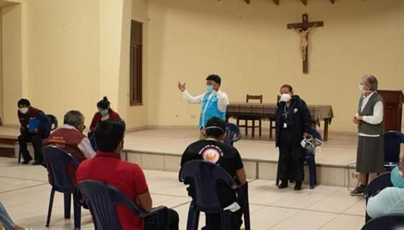 Ica: Habilitarán albergue temporal para pacientes COVID-19 leves y asintomáticos en convento Casa Franciscana del Buen Consejo en el distrito de La Tinguiña. (Foto Municipalidad de La Tinguiña)