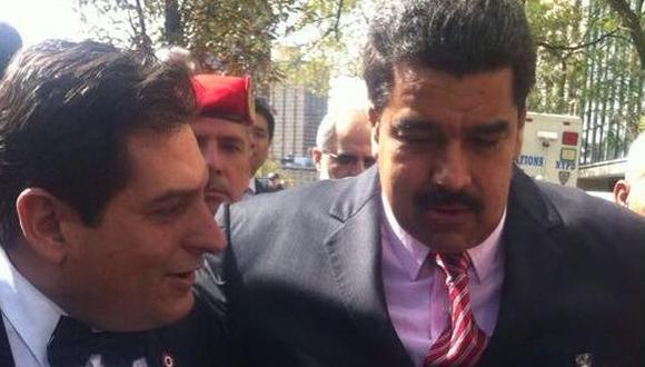 El candidato a la presidencia del Perú Claudio Zolla y el presidente de Venezuela, Nicolás Maduro en Nueva York, Estados Unidos. (Foto: Facebook)