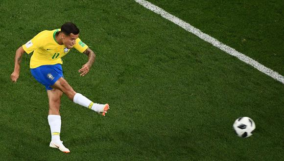Brasil vs. Suiza: Philippe Coutinho marcó impresionante gol en el Mundial Rusia 2018. (Foto: AFP)