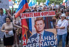 Miles de rusos vuelven a protestar por la detención de popular gobernador enemigo de Putin | FOTOS