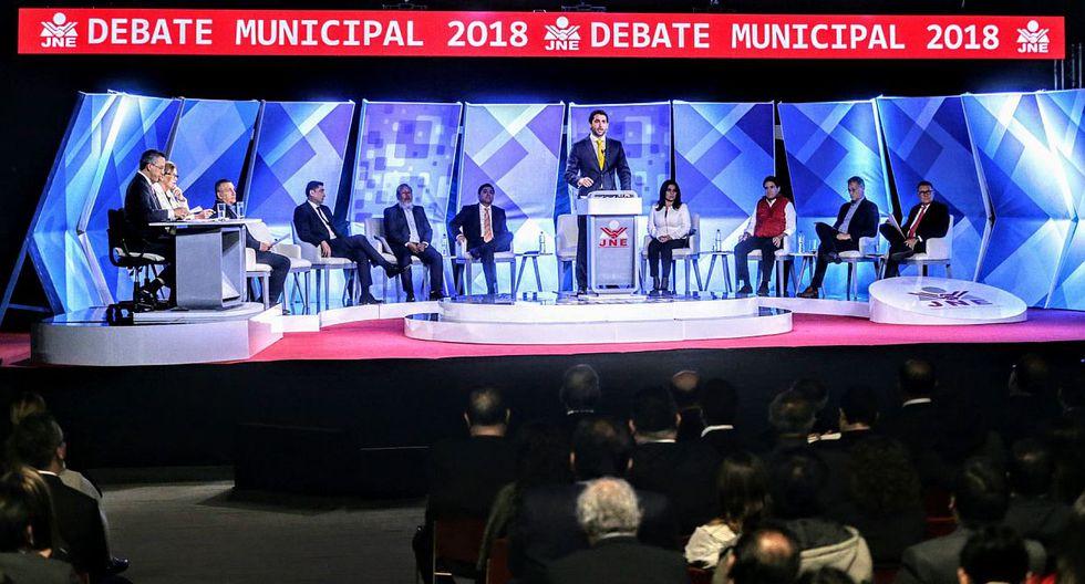 El debate municipal se extendió por unas dos horas y sirvió para escuchar las principales propuestas de nueve candidatos. (Foto: Andina)