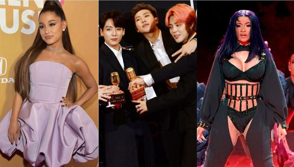 Ariana Grande, BTS y Cardi B entre los más influyentes de Internet, según la revista Time. (Foto: AFP)