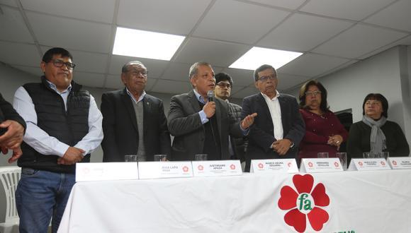El Frente Amplio brindó una conferencia de prensa este jueves. (Foto: Violeta Ayasta / El Comercio)