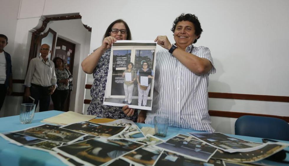 El Poder Judicial, en primera instancia, reconoció el matrimonio de Susel Paredes y Gracia María Aljovín. (Fotos: Mario Zapata)