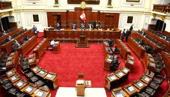 Sesión de la Junta de Portavoces se lleva a cabo en el Hemiciclo del Congreso. (Foto: PCM)