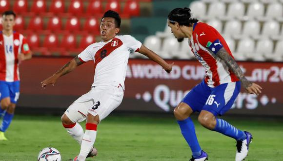 Perú y Paraguay empataron 2-2 en Asunción, en partido válido por las Eliminatorias Mundialistas para Qatar 2022. Foto: EFE/ Nathalia Aguilar