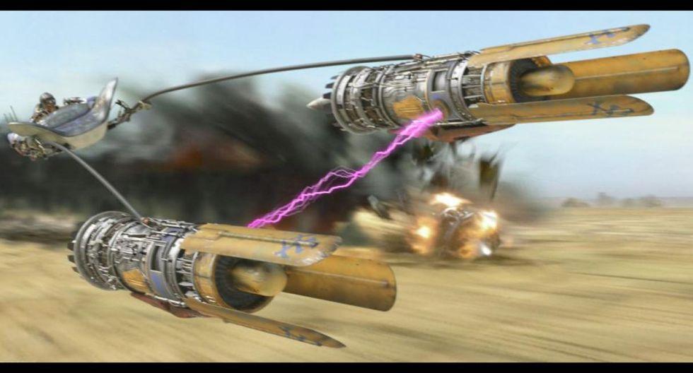Podracer: Los podracer son naves de carrera que por lo general viajan cerca de la tierra y que cuentan con un puesto para un piloto, como si se tratara de una carroza intergaláctica.