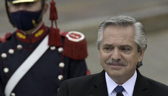 El presidente de Argentina Alberto Fernández. (Foto: JUAN MABROMATA / AFP).