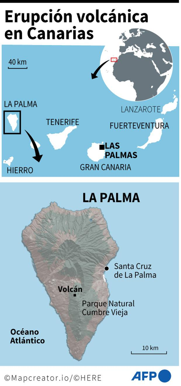 Volcanic eruption in the Canary Islands.  (AFP).