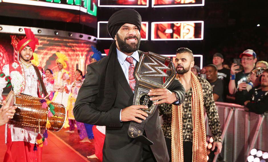Jinder Mahal, dueño del campeonato mundial, es la superestrella del momento en SmackDown. (Foto: WWE).
