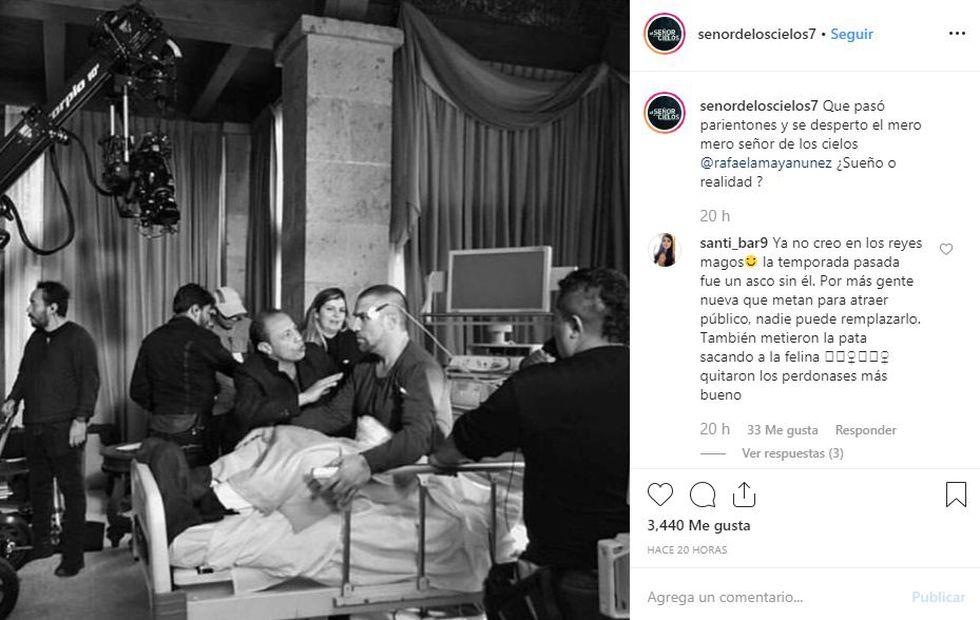 Rafael Amaya regresa con su papel de Aurelio Casillas (Foto: Instagram)