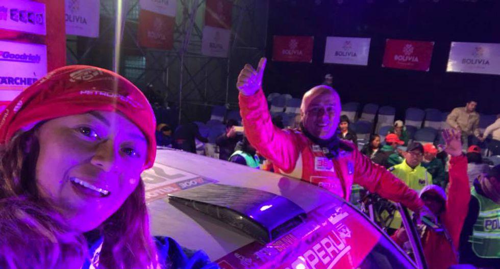 Fernanda Kanno no partió el segundo especial de ayer, pero nos explica que sigue en carrera en el Dakar 2018. (Foto: Facebook Fernanda Kanno)
