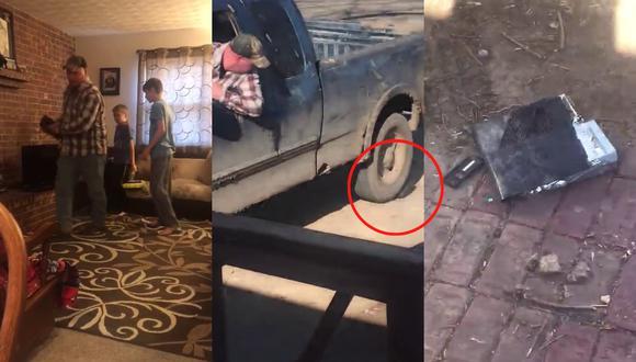 Un video viral muestra el extremo al que llegó un padre de familia para disciplinar a sus hijos al pulverizar su adorada Xbox One. | Crédito: @bubba..jay / TikTok.