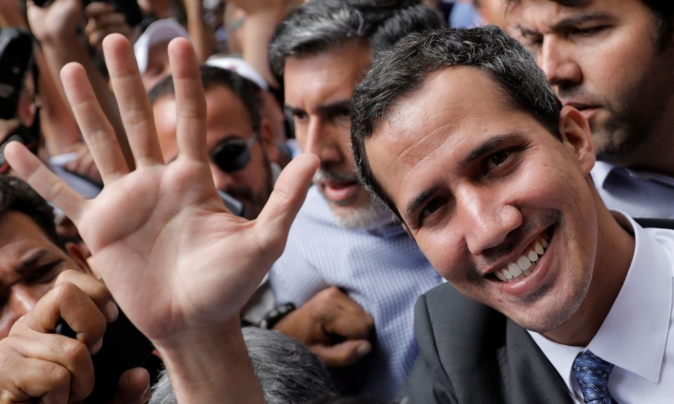 Juan Guaidó, presidente encargado de Venezuela. (Reuters).