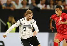 Alemania venció 2-1 a Perú sobre el final del amistoso jugado en Sinsheim