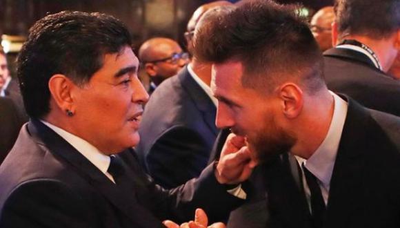 Lionel Messi celebró su gol de tiro libre del Argentina vs. Chile con el salto de Maradona. (Foto: Instagram)