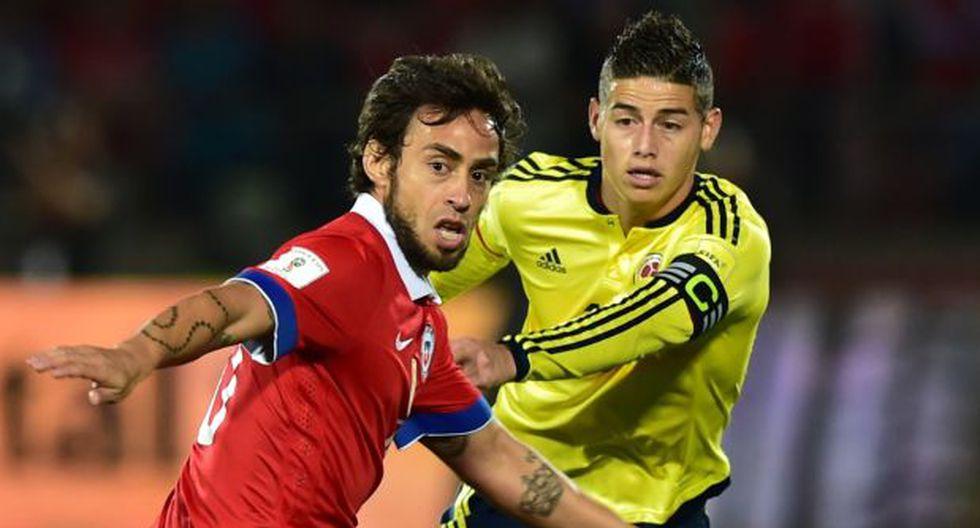 Chile igualó 1-1 con Colombia por las Eliminatorias Rusia 2018