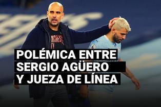 Pep Guardiola respaldó Sergio Agüero por la polémica con la árbitra asistente