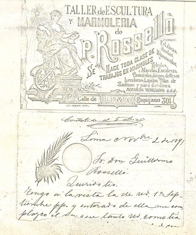 Anuncio publicitario de fines del siglo XIX. (Foto: Archivo Familiar Rosselló)