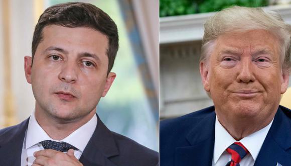 Impeachment: Donald Trump autoriza publicar su llamada con el presidente de Ucrania Volodymyr Zelensky sobre Joe Biden. (AFP).