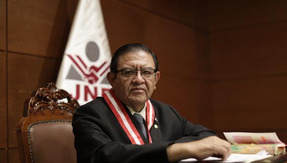 """Jorge Luis Salas Arenas, presidente del JNE, indicó que están cumpliendo """"parámetros constitucionales y legales"""" en sus funciones. (Foto: Archivo/ GEC)"""