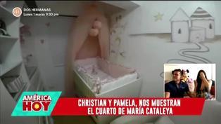 Christian Domínguez y Pamela Franco muestran el cuarto de su hija María Cataleya