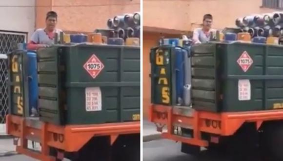 El repartidor de gas se volvió conocido en YouTube y otras  plataformas. (Foto: @zoaretnica)