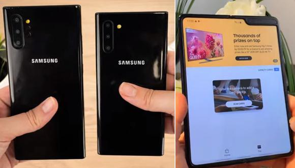 Galaxy Note 10 Plus y el Galaxy Fold, productos móviles de la surcoreana Samgung. (Foto: Captura YouTube)