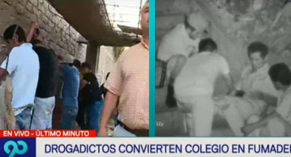 San Juan de Miraflores: sujetos convierten colegio en fumadero